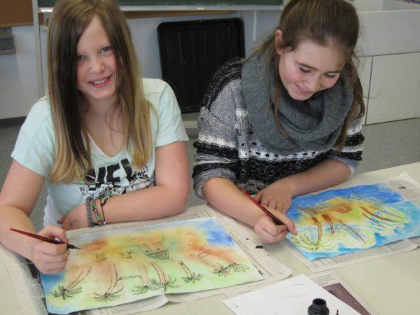 Künstlerinnen der Klasse 5c