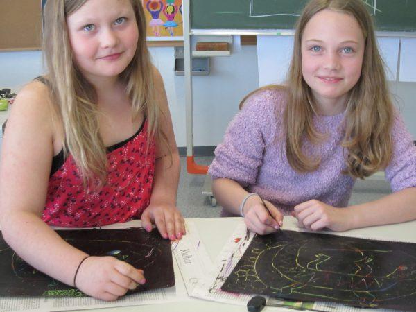 Künstlerinnen der Klasse 5d