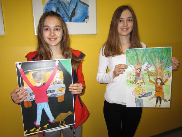 Künstlerinnen der Klasse 8